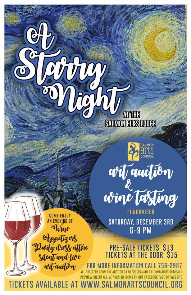 A Starry Night - Art Auction and Wine Tasting @ Elks Hall