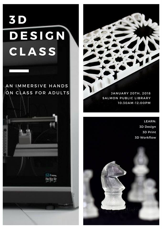 3D Design Class for Adults @ Salmon Public Library